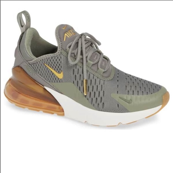 Nike Air Max 27 Olive And Gold